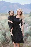 Amelia Black Lace Women's Dress