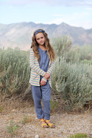 Rainbow Rib Knit Cardigan