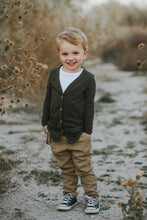 Load image into Gallery viewer, Dark Olive Cardigan