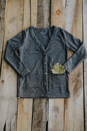 Heathered Coal Cardigan