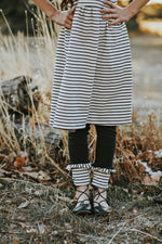 Black and Cream Stripe Lenni Leggings