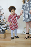 Red Stripe Raven Belle Dress