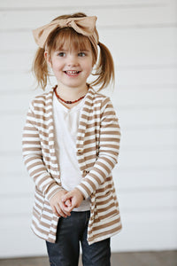 Mocha and Ivory Stripe Cardigan