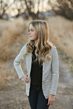 Striped Cardigan (larger sizes available)