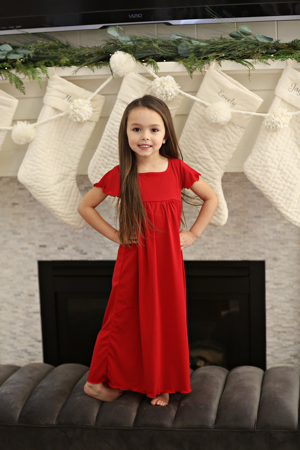 Echo Red Night Dress