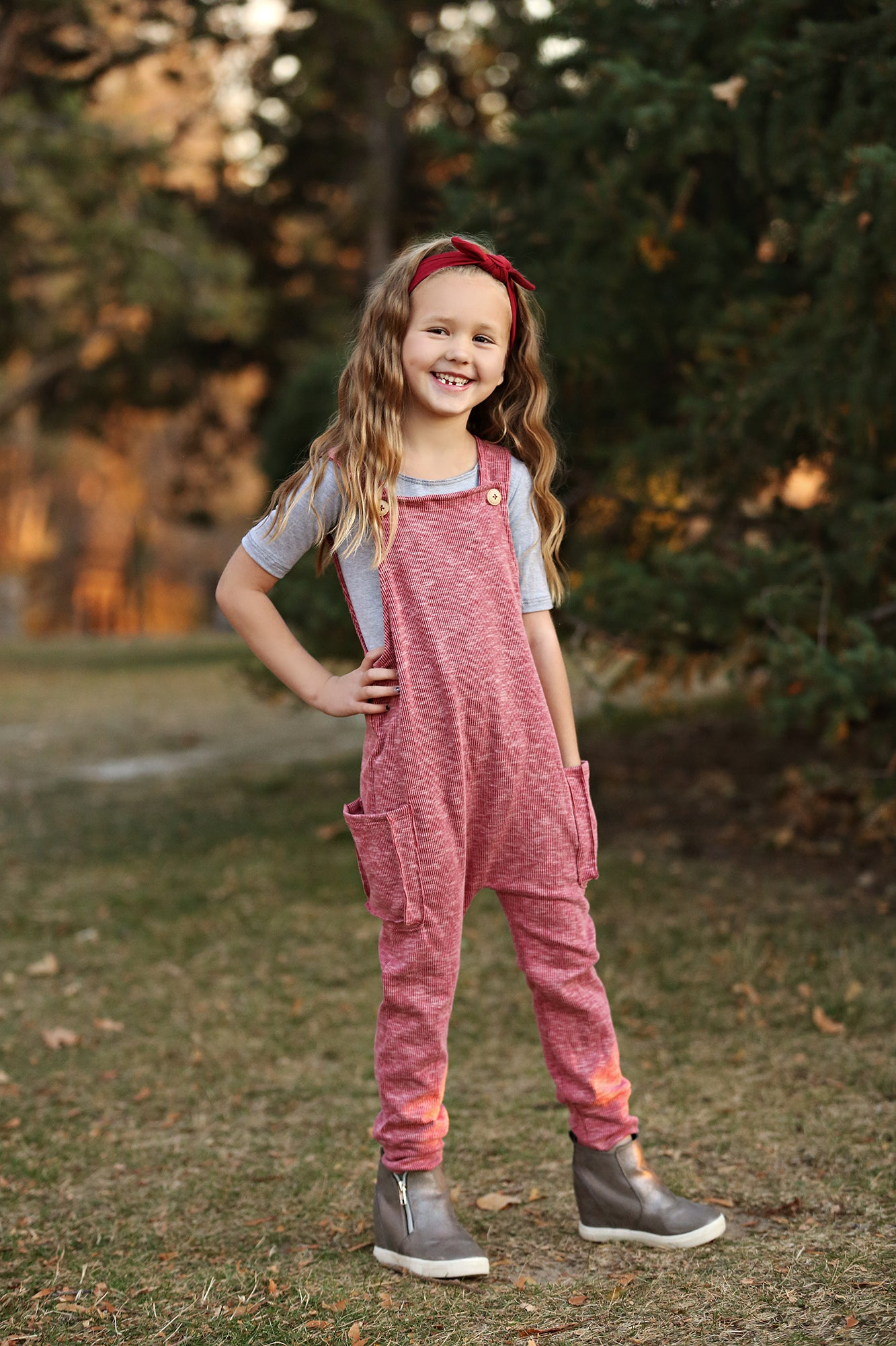 Atlas Cranberry Romper