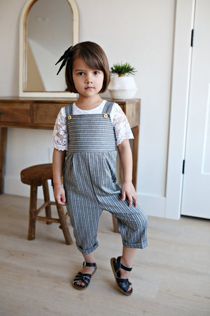 Juniper Grey Pinstripe Jumpsuit