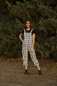 Juniper Black Plaid Women's Jumpsuit