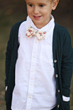 Holly Cream Floral Bow Tie