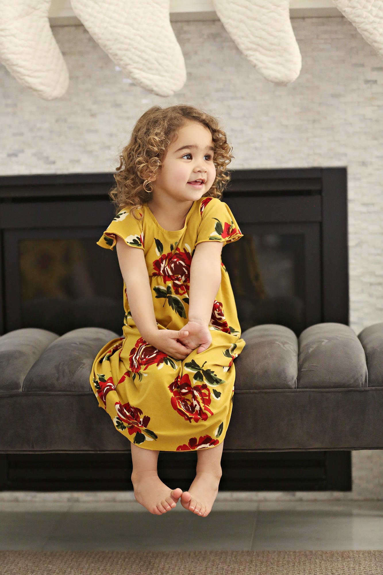 Echo Mustard Night Dress