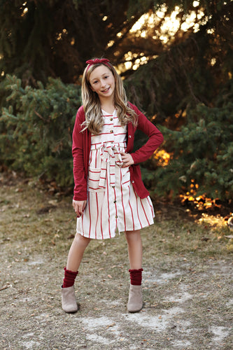 Marlow Red Stripe Dress