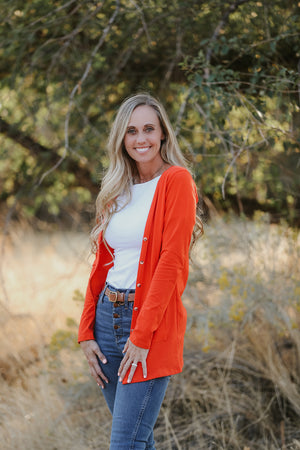 Tangerine Orange Women's Cardigan