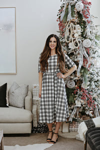 Journey Plaid Women's Midi Dress