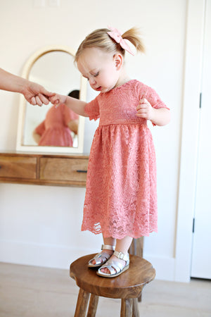Carnation Jane Eyre Lace Dress