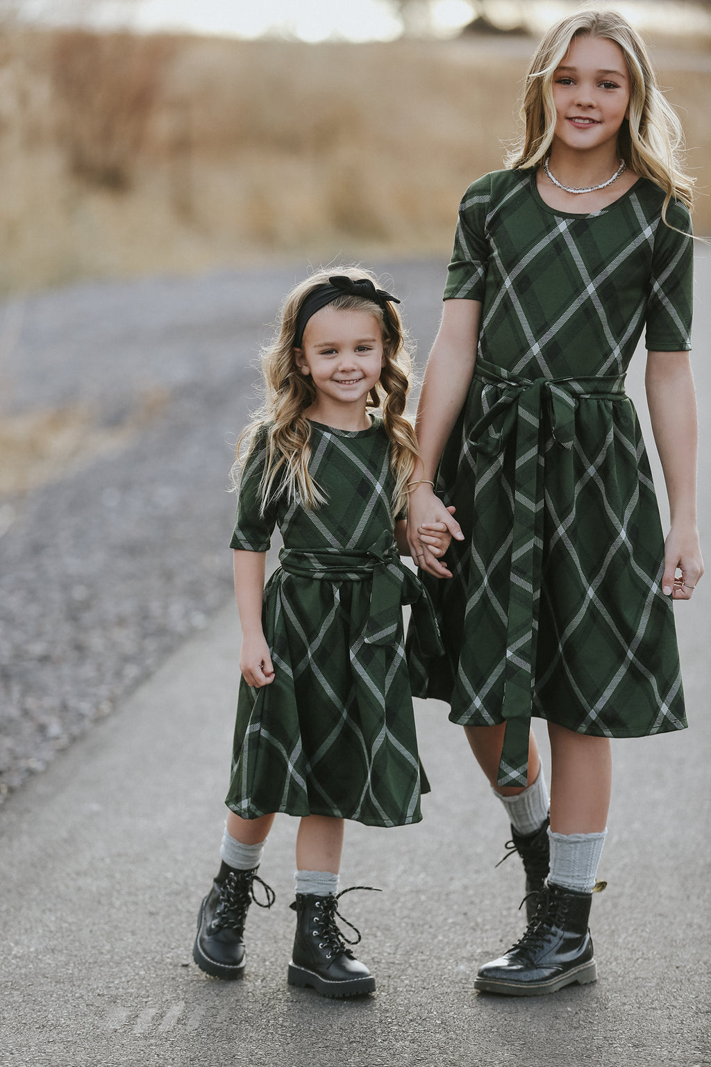Marley Olive Plaid Dress