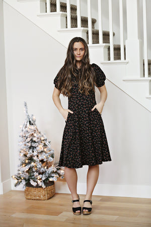 Noelle Black Floral Woman's Dress
