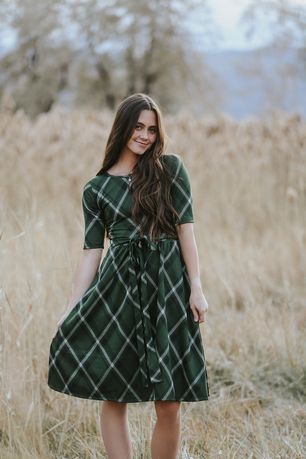 Marley Olive Plaid Women's Dress