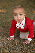 Red Polk A Dot Bow Tie