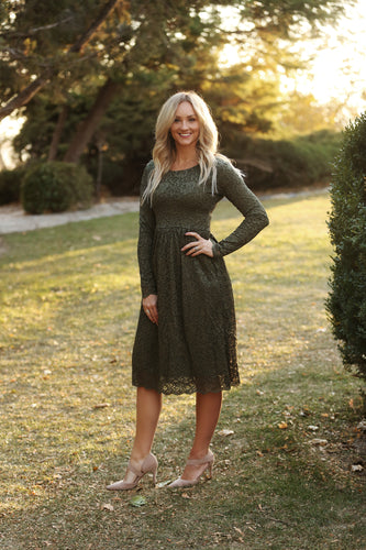 Ivy Olive Green Women's Dress