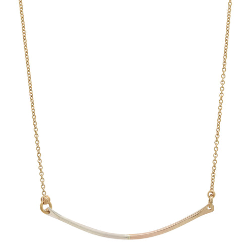 mixed-metal bar necklace