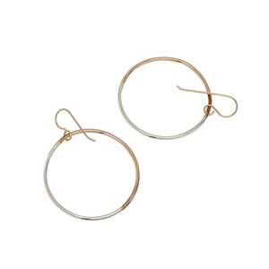 mixed metal hoop earrings