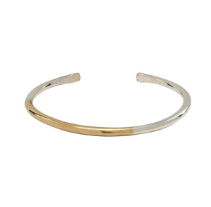 mixed-metal cuff bracelet