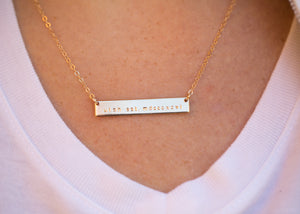 Gold Bar Necklace (Made by Mary)