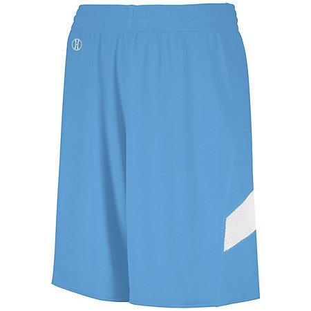 Youth Dual-Side Single Ply Basketball Shorts University Blue/white Jersey &