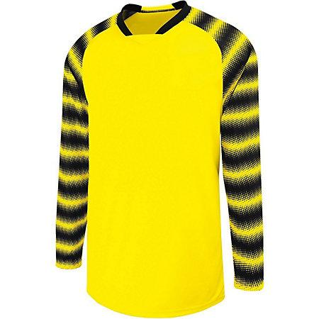Youth Prism Goalkeeper Jersey Power Yellow/black Single Soccer & Shorts
