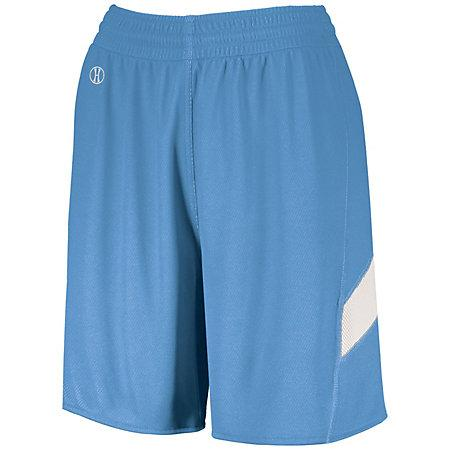 Ladies Dual-Side Single Ply Shorts University Blue/white Basketball Jersey &