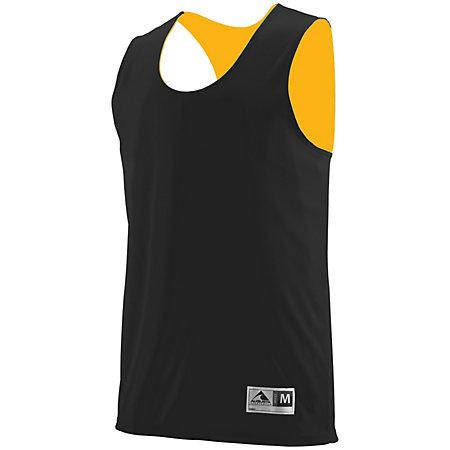 Youth Reversible Wicking Tank Black/gold Basketball Single Jersey & Shorts
