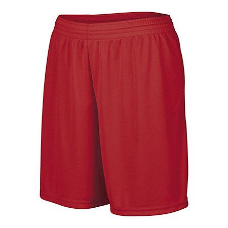 Girls Octane Shorts Red Softball