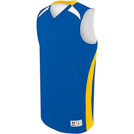 Youth Campus Reversible Jersey Royal/athletic Gold/white Basketball Single & Shorts