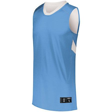 Youth Dual-Side Single Ply Basketball Jersey University Blue/white & Shorts