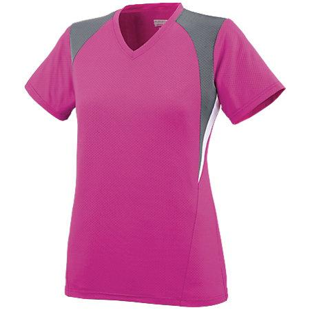Ladies Mystic Jersey Power Pink/graphite/white Softball