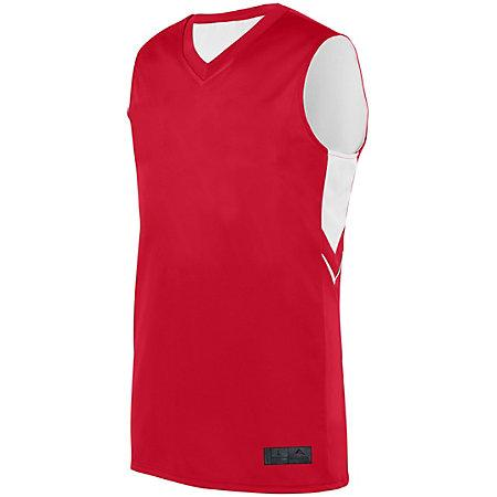 Alley-Oop Reversible Jersey Red/white Adult Basketball Single & Shorts