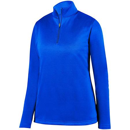 Ladies Wicking Fleece Pullover Royal Softball