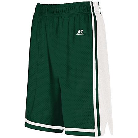 Ladies Legacy Basketball Shorts Dark Green/white Single Jersey &