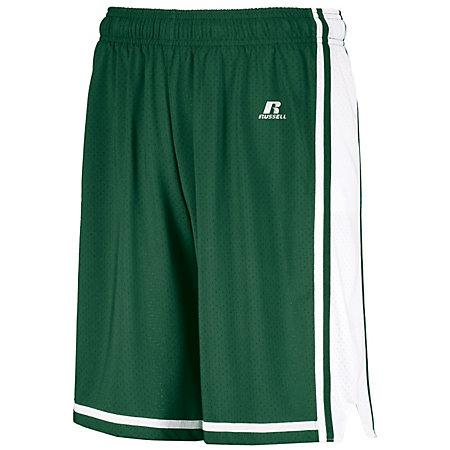 Legacy Basketball Shorts Dark Green/white Adult Single Jersey &