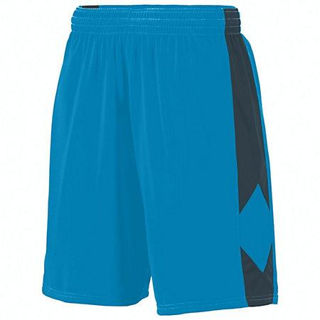 Youth Block Out Shorts Power Blue/slate Basketball Single Jersey &