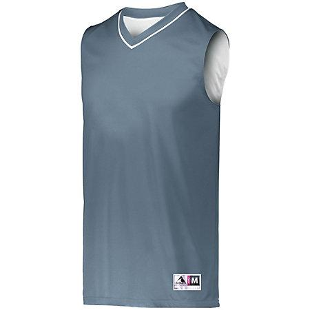 Reversible Two Color Jersey Graphite/white Adult Basketball Single & Shorts