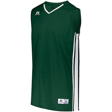 Youth Legacy Basketball Jersey Dark Green/white Single & Shorts