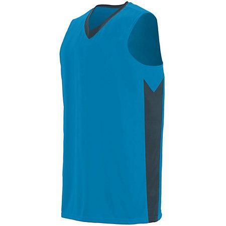 Youth Block Out Jersey Power Blue/slate Basketball Single & Shorts