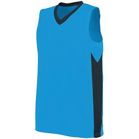 Ladies Block Out Jersey Power Blue/slate Basketball Single & Shorts