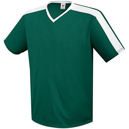 Youth Genesis Soccer Jersey Forest / blanco Single & Shorts