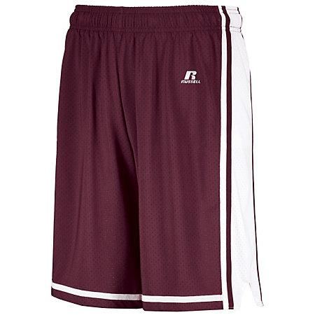 Legacy Basketball Shorts Maroon/white Adult Single Jersey &