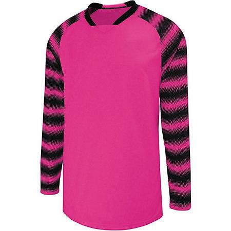 Youth Prism Goalkeeper Jersey Raspberry/black Single Soccer & Shorts