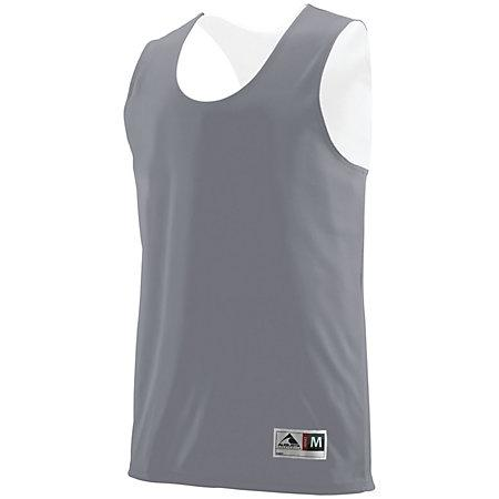 Youth Reversible Wicking Tank Graphite/white Basketball Single Jersey & Shorts