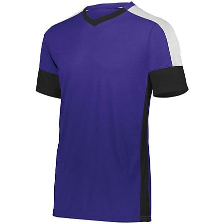 Youth Wembley Soccer Jersey Purple/black/white Single & Shorts