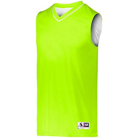 Reversible Two Color Jersey Lime/white Adult Basketball Single & Shorts